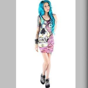 Iron Fist SKIN CRAWLER Zombie Mini Dress 🔥🔥🔥